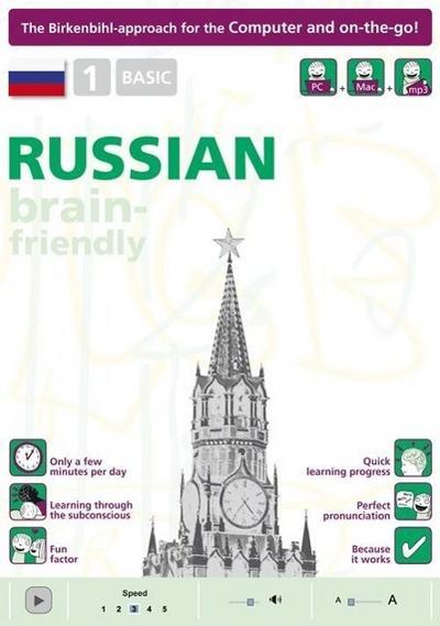 Brain-Friendly Russian, 1 Basic, Computercourse Birkenbhil (Brain-Friendly, Russian in Only 5 Minutes)