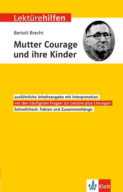 """Klett Lektürehilfen Bertolt Brecht """"Mutter Courage und ihre Kinder"""""""