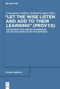 """Let the Wise Listen and add to Their Learning"" (Prov 1:5)"
