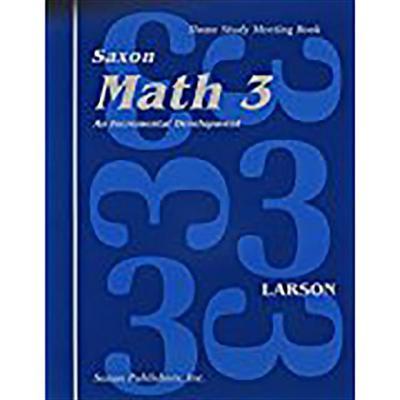 Saxon Math 3 Homeschool: Student's Meeting Book 1st Edition
