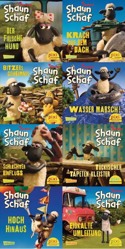 Pixi-Bundle 8er Serie 228: Shaun das Schaf ist nicht zu bremsen