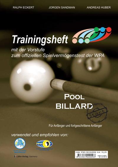 Pool Billard Trainingsheft PAT Start