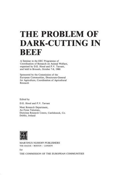 Problem of Dark-Cutting in Beef