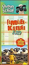 Shaun das Schaf Familienkalender 2019