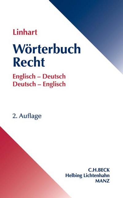 Wörterbuch Recht. Englisch-Deutsch / Deutsch-Englisch
