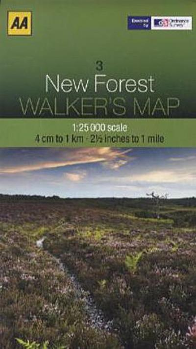 Walker's Map 03 New Forest 1 : 25 000