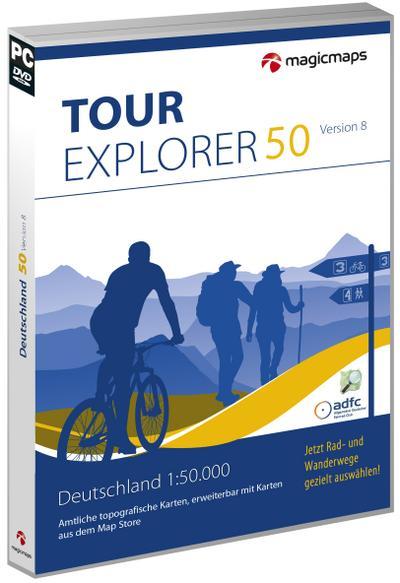 TOUR Explorer 50 Deutschland, Version 8.0: Digitale Karten, Tourenplanung und GPS