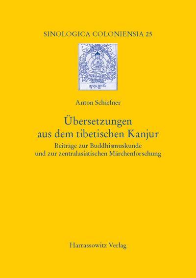 Übersetzungen aus dem tibetischen Kanjur