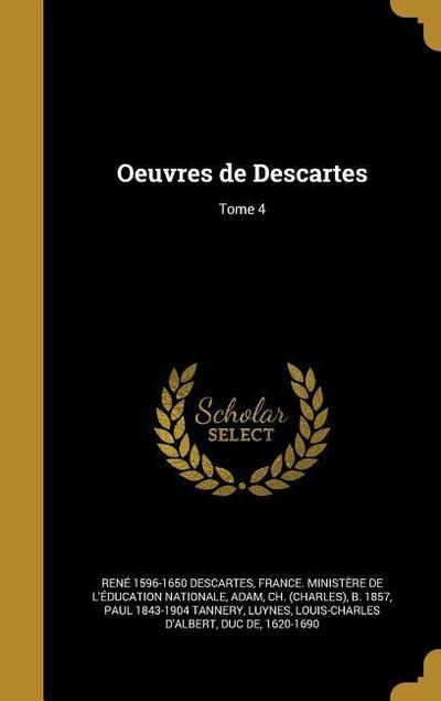 FRE-OEUVRES DE DESCARTES TOME