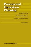 Process and Operation Planning - G. Halevi