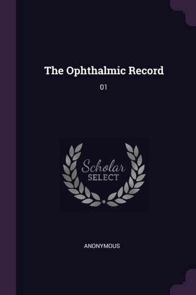 The Ophthalmic Record: 01
