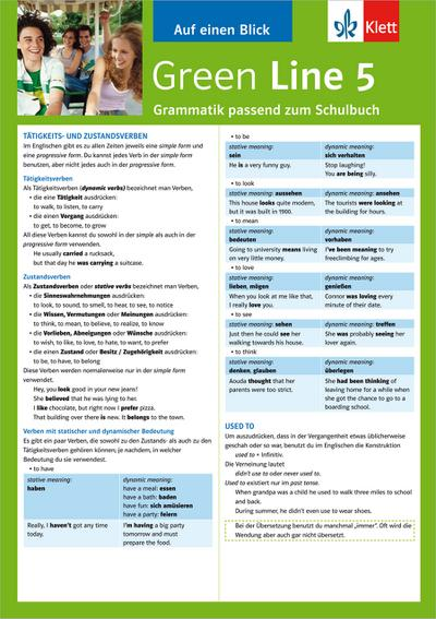 Green Line 5. Alles auf einen Blick. Grammatik