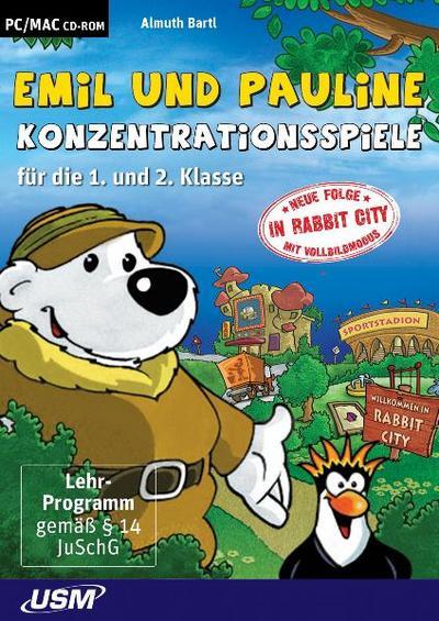 Emil & Pauline Konzentrationsspiele für die 1. und 2. Klasse