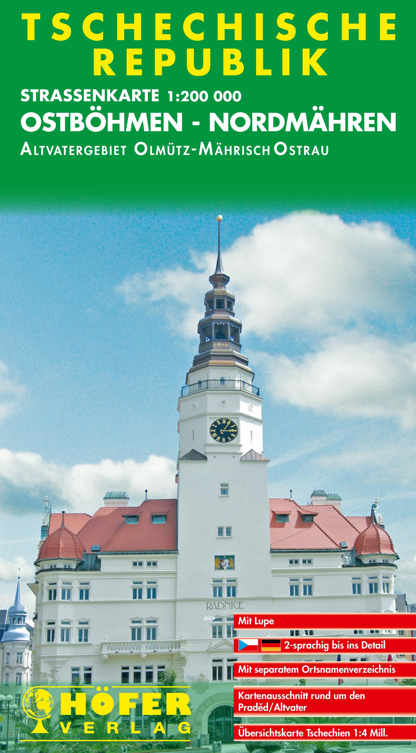 Klaus Höfer ~ Höfer Straßenkarten, Tschechische Republik, Ostb ... 9783931103033