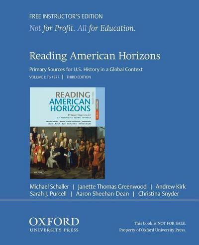Reading American Horizons, Volume 1 Ie