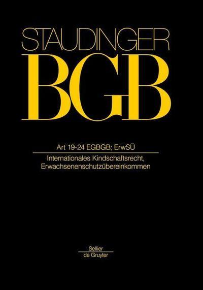 Staudinger BGB Artikel 19-24 EGBGB; ErwSÜ