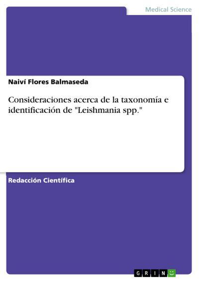 Consideraciones acerca de la taxonomía e identificación de