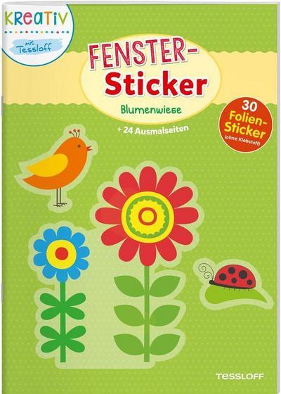 Fenster-Sticker. Blumenwiese