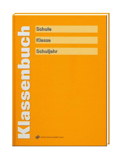 Klassenbuch (sonnengelb)