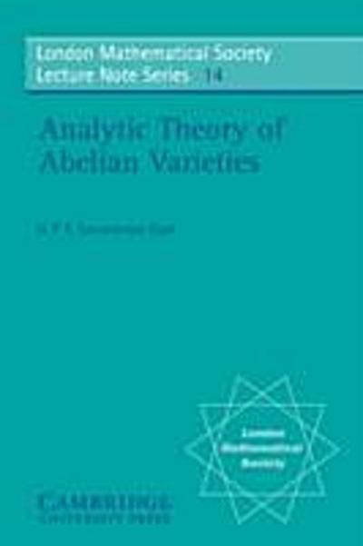 Analytic Theory of Abelian Varieties