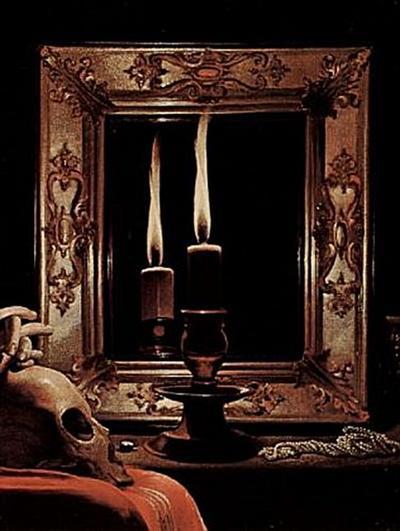 Georges de La Tour - Büßende Maria Magdalena (Magdalena Wrightsman), Detail: Kerze im Spiegel - 200 Teile (Puzzle)