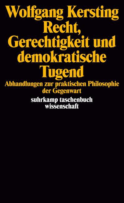 Recht, Gerechtigkeit und demokratische Tugend: Abhandlung zur praktischen Philosophie der Gegenwart (suhrkamp taschenbuch wissenschaft)