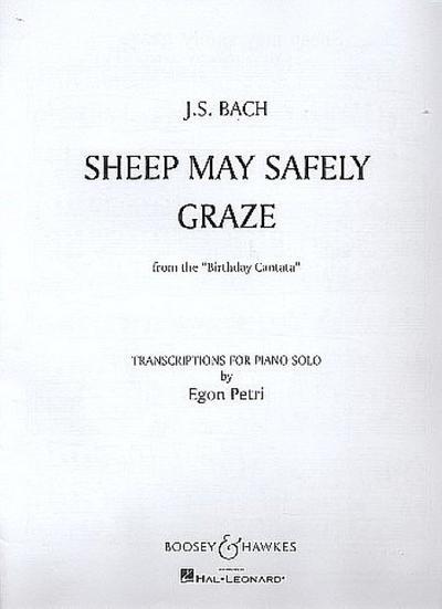 Schafe können sicher weidenfür Klavier