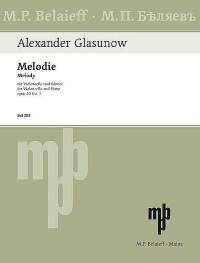 Melodie op.20,1 fürVioloncello und Klavier