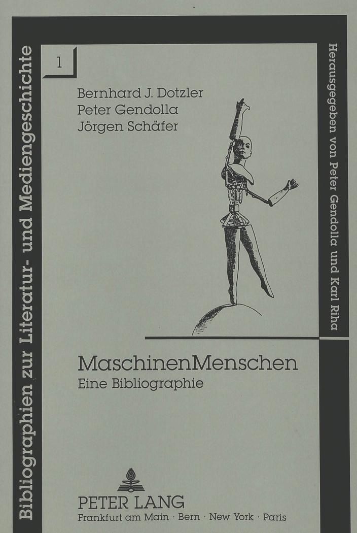 Maschinen Menschen ~ Bernhard Dotzler ~  9783631445327