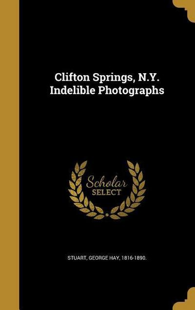 CLIFTON SPRINGS NY INDELIBLE P