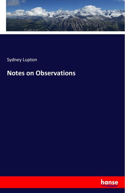 Notes on Observations