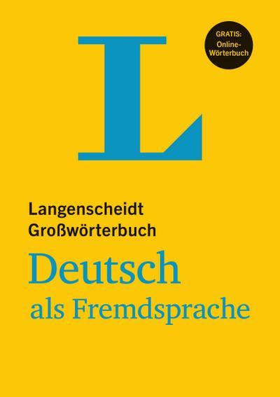 LG Großwörterbuch Deutsch als Fremdsprache - Buch mit Online-Anbindung