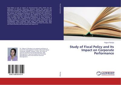 Study of Fiscal Policy and Its Impact on Corporate Performance