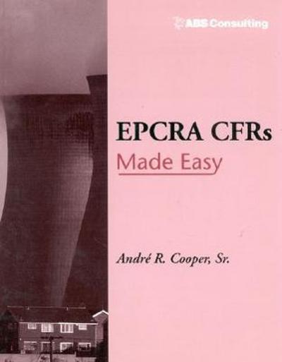 EPCRA CFRs Made Easy
