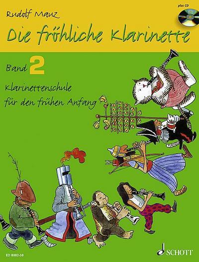 Die fröhliche Klarinette. Band 2. mit CD