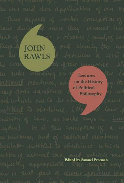 Lectures on the History of Political Philosophy