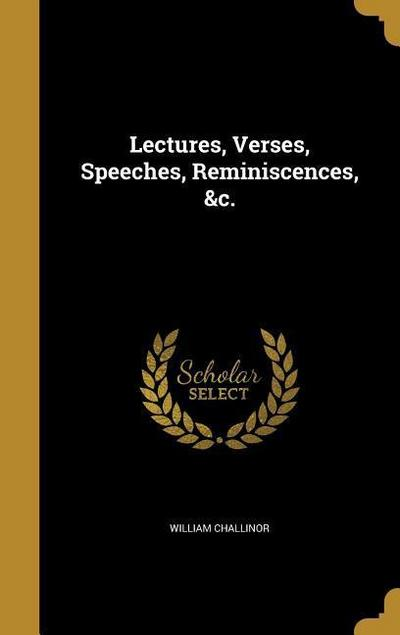 LECTURES VERSES SPEECHES REMIN