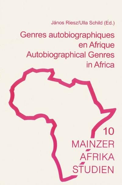 Genres autobiographique en Afrique /Autobiographical Genres in Africa