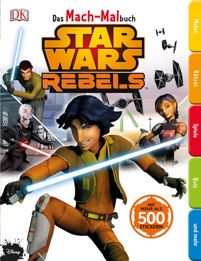 Das Mach-Malbuch. Star Wars Rebels™; Das Mach-Malbuch; Deutsch; Durchgehende Farbfotografien und Illustrationen; ACHTUNG! Für Kinder unter 3 Jahren nicht geeignet. Erstickungsgefahr durch verschluckbare Kleinteile.