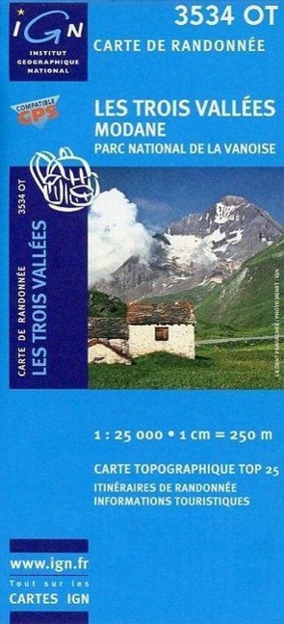 Les Trois Vallées  1 : 25 000