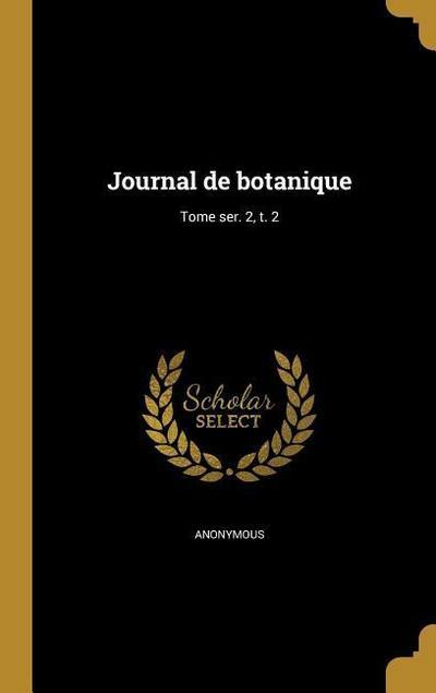 FRE-JOURNAL DE BOTANIQUE TOME