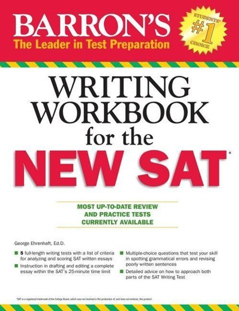 Barron's Writing Workbook for the New SAT - George Ehrenhaft -  9781438006239