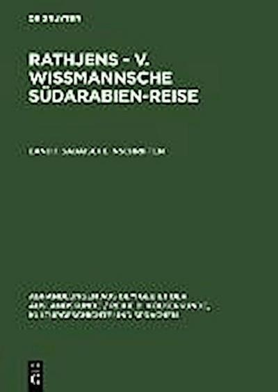 Rathjens - v. Wissmannsche Südarabien-Reise