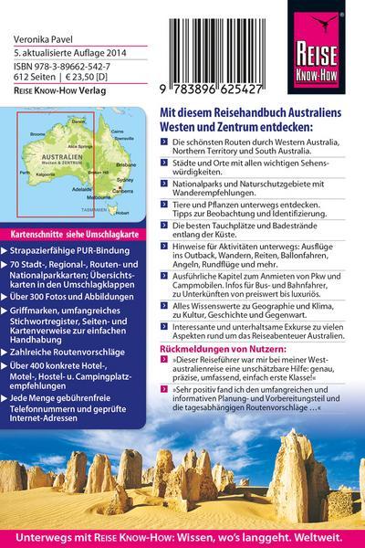 Australien ? Westen und Zentrum   ; Reiseführer ; Reise Know How Reise Know-How Verlag Dr. Hans Grundmann; Deutsch
