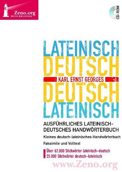 Georges Lateinisch-Deutsch / Deutsch-Lateinisch. Windows Vista; XP; 2000; NT; ME; 98