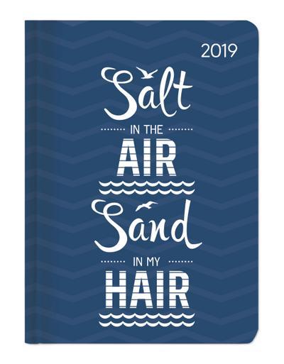 Buchkalender Mini Style Salty Air 2019 - Taschenplaner / Taschenkalender A6 - Day By Day - 352 Seiten - ALPHA EDITION - Kalender, Deutsch| Englisch| Französisch| Italienisch, ALPHA EDITION, Salt in the air, sand in my hair, Salt in the air, sand in my hair