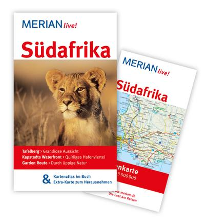Südafrika: Mit Kartenatlas im Buch und Extra-Karte zum Herausnehmen (MERIAN live)