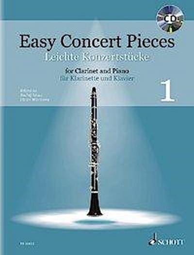 Easy Concert Pieces. Klarinette und Klavier Band 1. Ausgabe mit CD