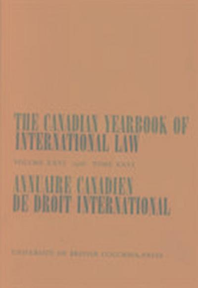 The Canadian Yearbook of International Law, Vol. 26, 1988