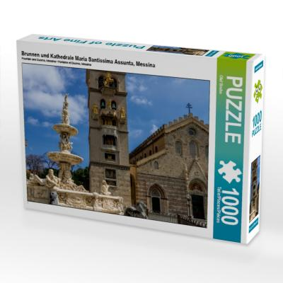 Brunnen und Kathedrale Maria Santissima Assunta, Messina (Puzzle)